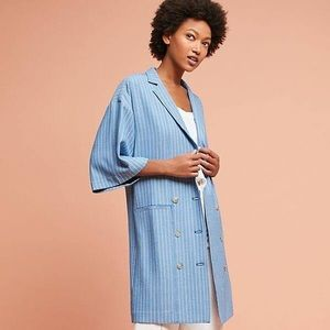Anthropologie Maeve pinstripe blazer dress